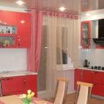 Шторы для современной кухни с балконной дверью