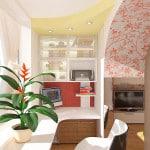 Как объединить комнату с балконом фото
