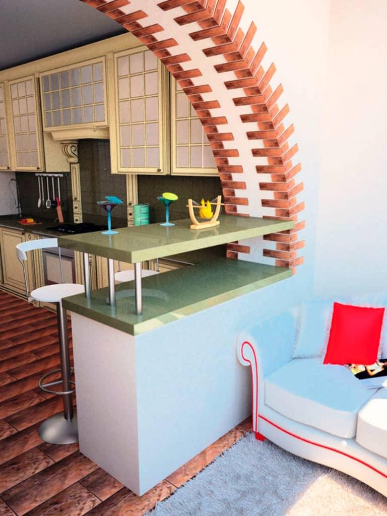 Балкон с барной стойкой дизайн