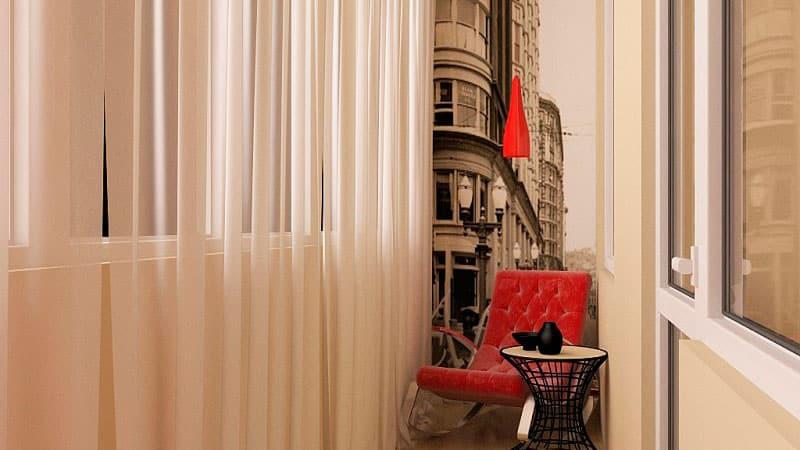 Изысканный дизайн на балконе