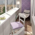 Стильный дизайн балкона в квартире