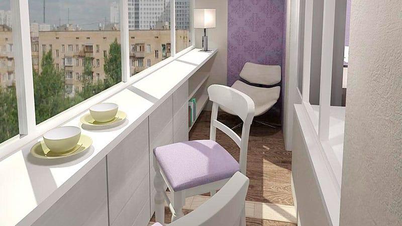 Дизайн балкона в квартире: фото идеи ремонта на балконе и оф.