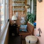 Маленький балкон оформление