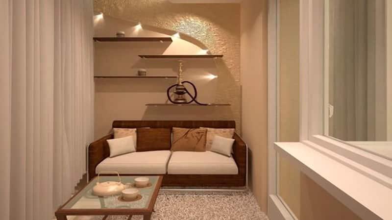 Гостиная объединенная с балконом варианты дизайна