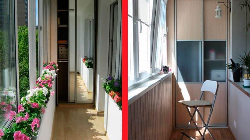 Дизайн балкона в хрущевке: фото интерьера зала с балконом.