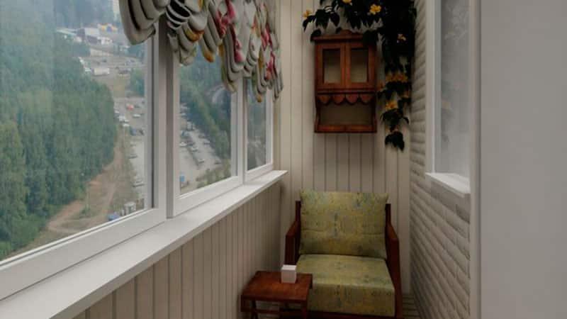 Красивый балкон в хрущевке