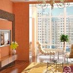 Гостиная, совмещенная с балконом
