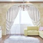 Гостиная с балконом - вариант оформления