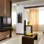 Дизайн объединенных гостиной, кухни и лоджии