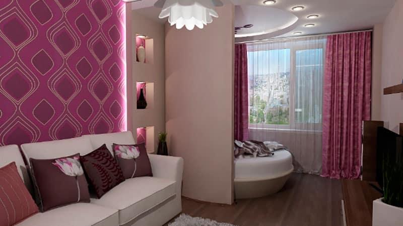 Спальня на лоджии - дизайн