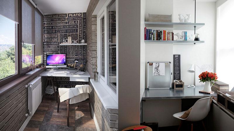 Интересные идеи для оформления балкона под мини-кабинет