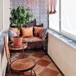 декор интерьера лоджии и маленького балкона