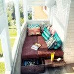 Оригинальная идея оформления маленького балкона