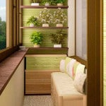 Интересная идея оформления маленького балкона