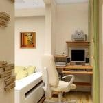 Интерьер на балконе, совмещенным с комнатой