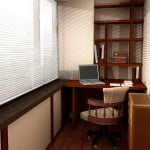 Интерьер балкона для работы