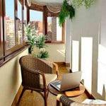 Ротанговая мебель на балкон