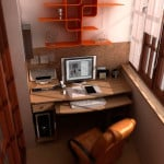 Оформление рабочего места на балконе