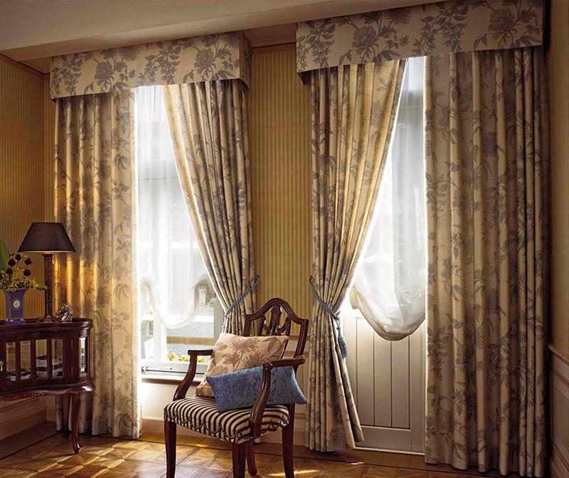 Дизайн гардин и штор для спальни фото