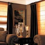 Шторы для гостиной - оформление окна