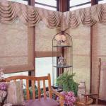 Римские шторы на балкон на липучке