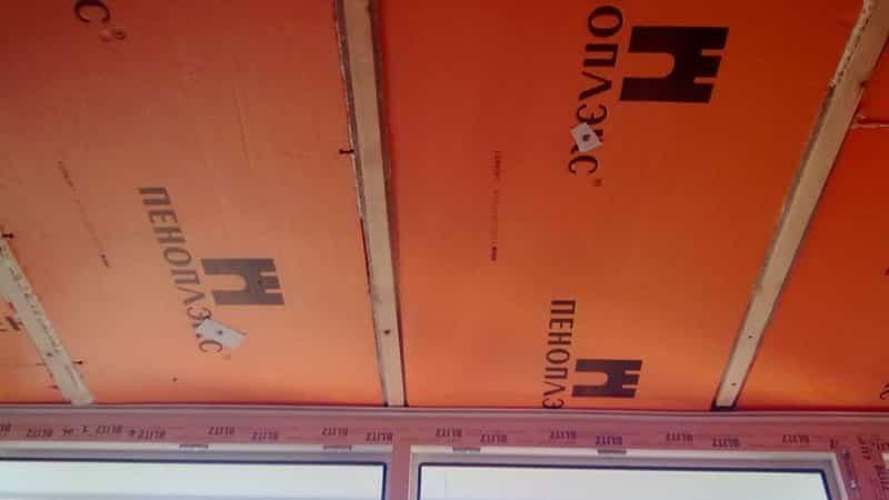 Утепление потолка на балконе пенополистиролом