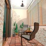 расивый балкон - вариант оформления