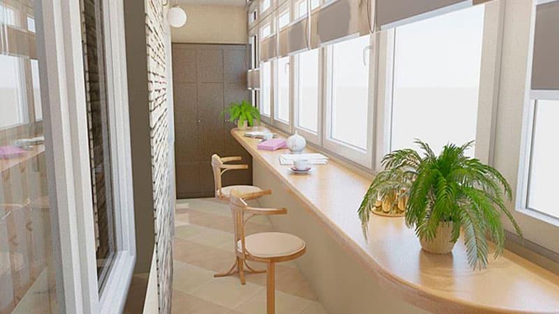 Балкон интерьер дизайн