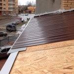 Профнастил на крышу балкона