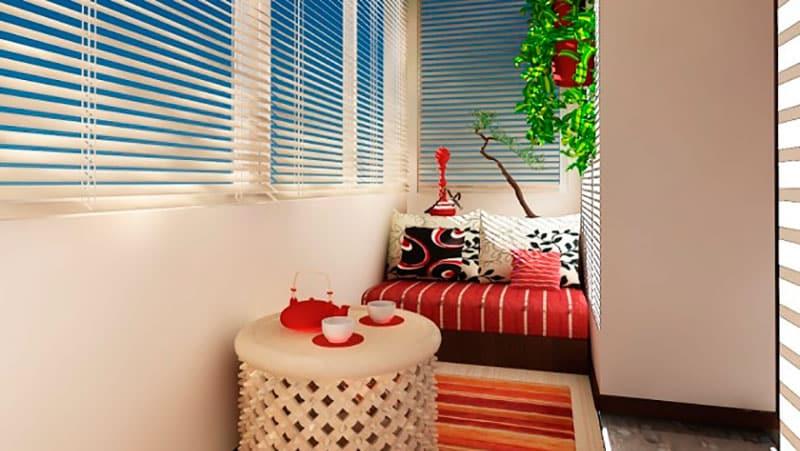 Оформление небольшого балкона фото