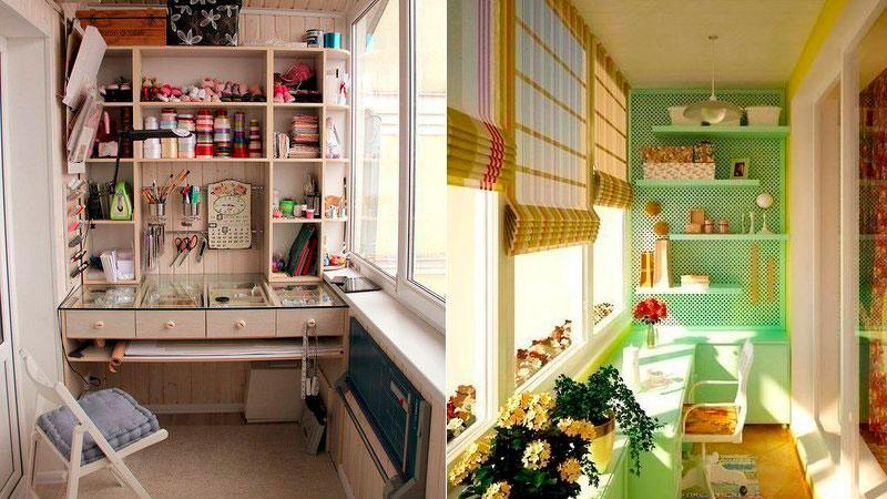 Швейная мастерская на балконе