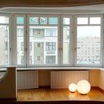 Объединение зоны балкона с кухней