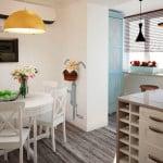 Совмещение балкона и кухни - вариант дизайна