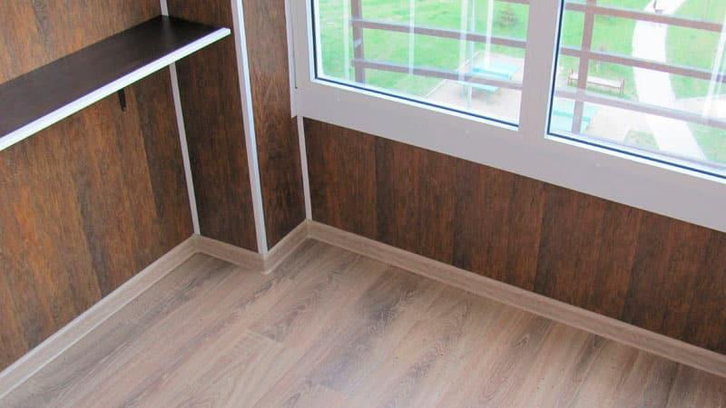 отделка балконов панелями мдф