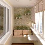 отделка маленького балкона внутри фото
