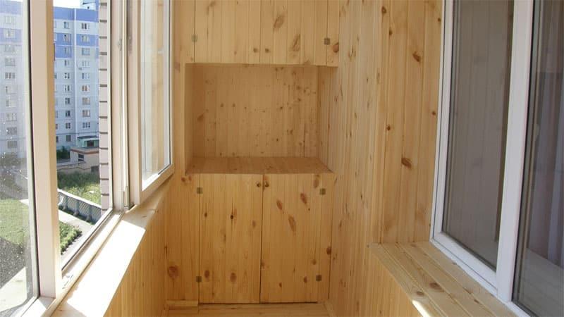 фото вариантов отделки лоджии внутри