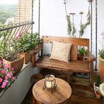 отделка маленького открытого балкона