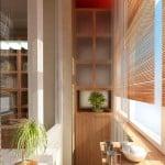 дизайн отделки маленького балкона