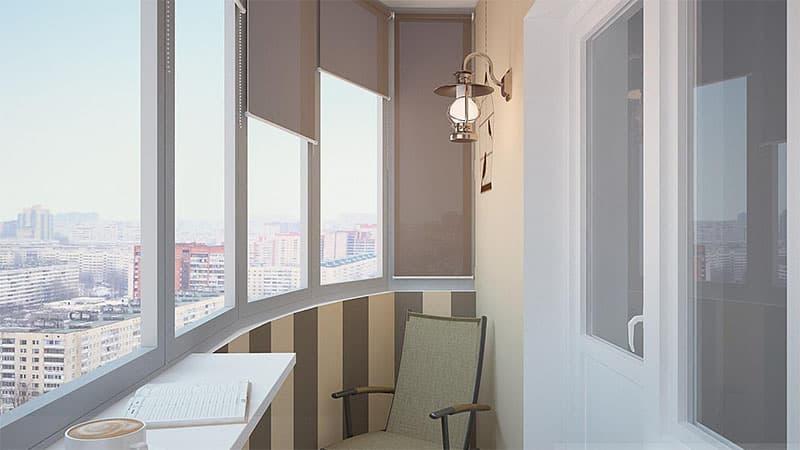 примеры отделки маленького балкона внутри панелями