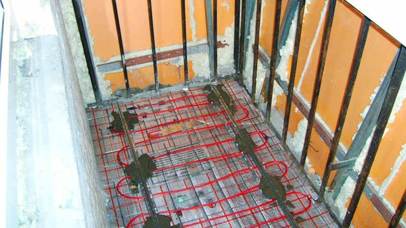 Теплый пол на балконе от центрального отопления