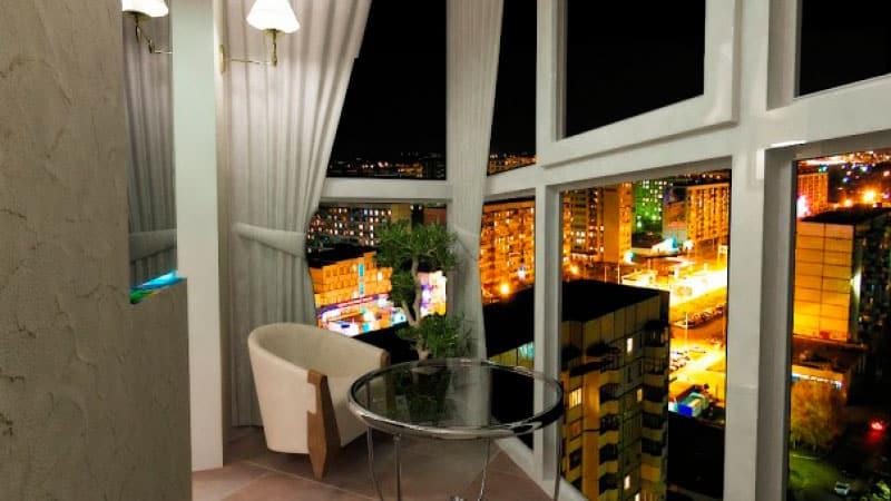 Панормальное остекление балкона