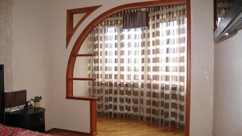 Писоединение балкона к комнате