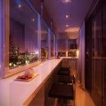 Стильный дизайн небольшого балкона