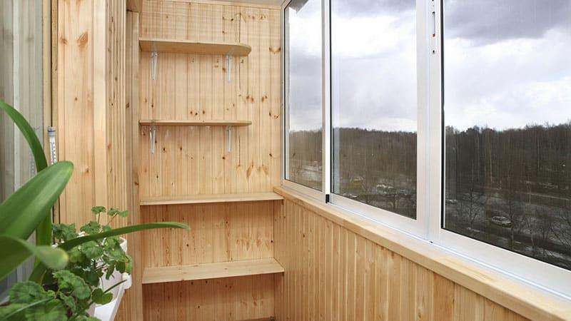 Стеллаж на балкон своими руками