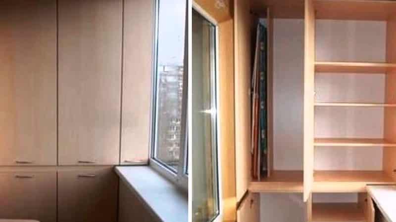 Шкаф на балкон: фото инструкция сборки, стеллаж на лоджии.