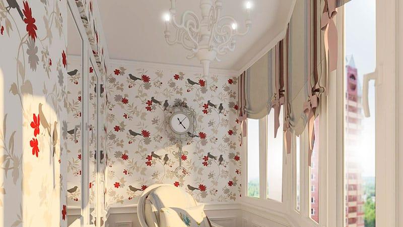 Фото шторы на балкон своими руками