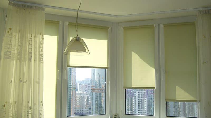 Рулонные шторы для лоджии фото