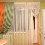 Дизайн штор с выходом на балкон