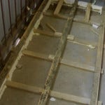 Монтаж деревянной обрешетки на пол на балконе