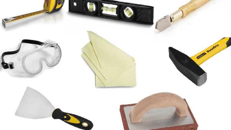 Инструмент для отделки балкона керамической плиткой